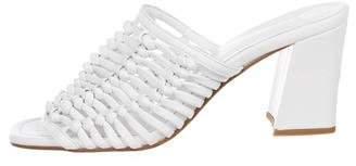 Maryam Nassir Zadeh Leather Slide Sandals