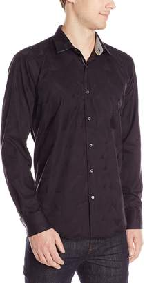 Bugatchi Men's Gabriel Long Sleeve Shaped Button Down Shirt