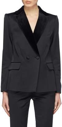 Frame Peaked velvet lapel satin tuxedo blazer