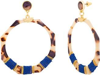 Catherine Malandrino Octagon Tortoise Acrylic Earrings