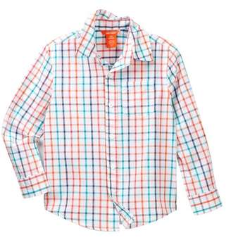 Joe Fresh Poplin Printed Dress Shirt (Big Boys)