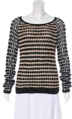 Rag & Bone Long Sleeve Macramé Sweater