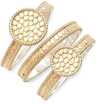 Anna Beck Set of 3 Double Disc Stack Rings