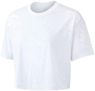Nike Dry Print Crop Tee Womens Crew Neck Short Sleeve T-Shirt