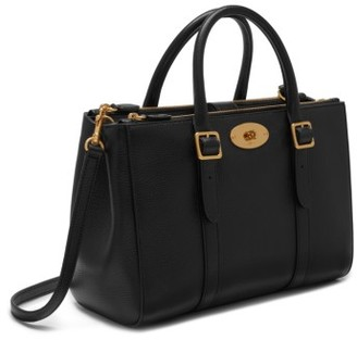 Mulberry Small Bayswater Double Zip Leather Satchel - Black $1,695 thestylecure.com