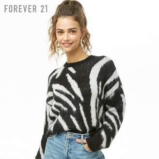 Forever 21 (フォーエバー 21) - Forever 21 ゼブラブラッシュドセーター