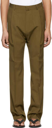 Lanvin Brown One Pleat Trousers