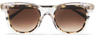Thierry Lasry Savvvy Cat-eye Tortoiseshell Acetate And Gold-tone Sunglasses - Clear