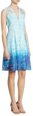 Elie Tahari Ombre Textured Dress $498 thestylecure.com