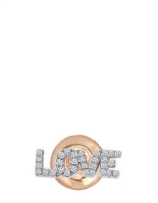 Rosegold The Alkemistry Kismet by Milka 14ct rose-gold and diamond earring