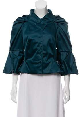 Zac Posen Long Sleeve Button-Up Jacket