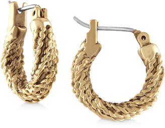 Rachel Roy Gold-Tone Rope Hoop Earrings