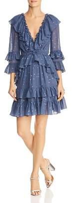 Rebecca Taylor Glitter Gem Silk Dress