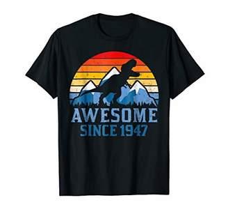 71st Birthday Gift Shirt Dinosaur 71 Year Old Tshirt for Men
