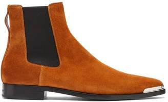 Givenchy Dallas Metal Tip Suede Chelsea Boots - Mens - Brown