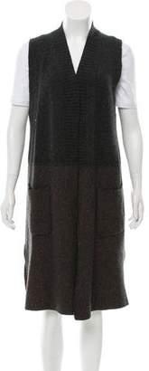 Cividini Rib Knit Wool Vest