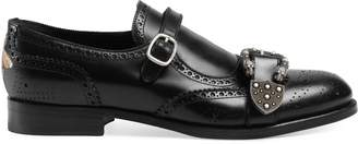Gucci Monk strap shoe with brogueing