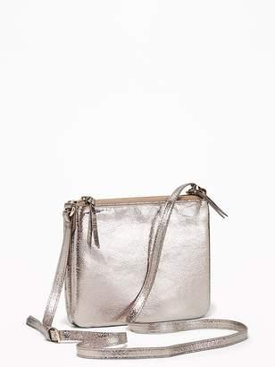 Old Navy Metallic Dual-Zip Crossbody Bag for Women