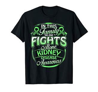 No One Fights Alone Kidney Disease Awareness T Shirt