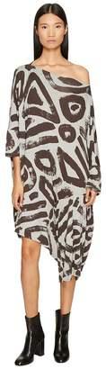 Vivienne Westwood Patron Printed Dolman Sleeve Dress Women's Dress