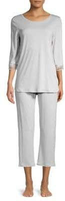 Hanro Two-Piece Cotton Cropped Pajama Set