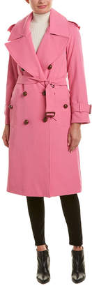 Burberry Gabardine Wool Trench Coat