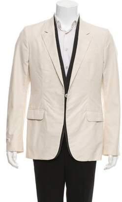 Alexander McQueen Peaked-Lapel Single-Button Blazer