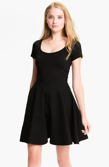 Nordstrom FELICITY & COCO Ponte Knit Fit & Flare Dress Exclusive)