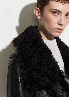 Leather Shearling Moto Jacket