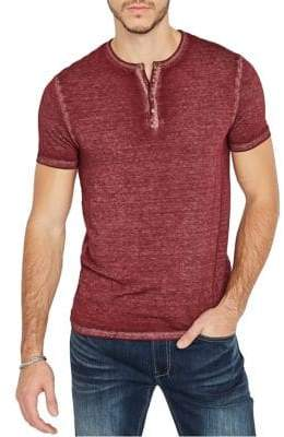 Buffalo David Bitton Kasum Heathered Cotton Blend Henley