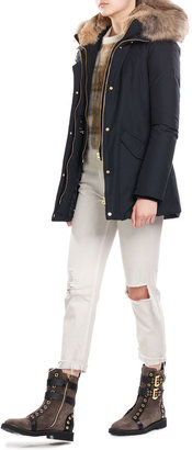 Woolrich Down Jacket with Fur-Trimmed Collar $989 thestylecure.com