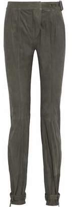 Belstaff Buckle-Embellished Suede Pants