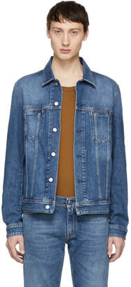 Acne Studios Blue Bla Konst Denim Mid Pass Jacket