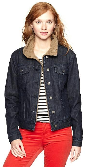 Gap 1969 Denim Sherpa-Lined Jacket