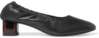 Robert Clergerie - Poket Leather Pumps - Black $495 thestylecure.com