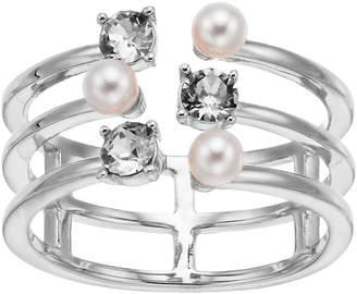 Brilliance+ Brilliance Triple Band Ring with Swarovski Crystal Pearls