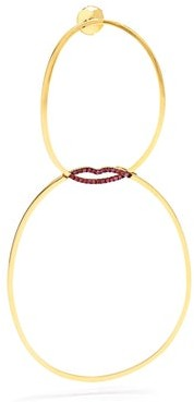 Delfina Delettrez Ruby & Yellow Gold Single Earring - Womens - Gold