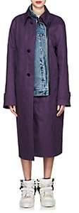 Maison Margiela Women's Reversible Twill & Denim Coat - Purple