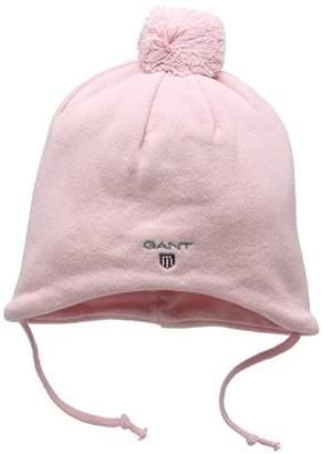 Gant Baby Girls' Pom Beanie Hat,(Manufacturer Size: L)