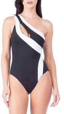 Kenneth Cole Reaction One-Shoulder One-Piece Swimsuit