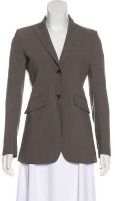 Theory Wool Peak-Lapel Blazer