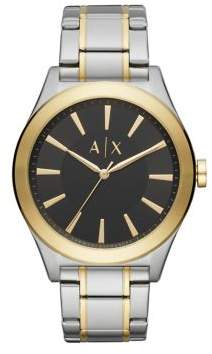 Armani Exchange Nico Three-Hand Two-Tone Stainless Steel Y-Link Watch