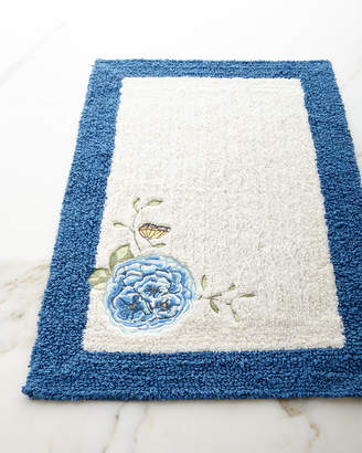 Lenox Blue Flower Garden Bath Rug