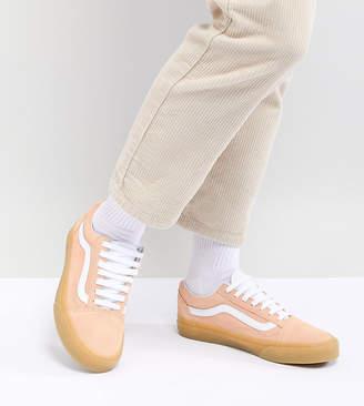 Vans Old Skool Pastel Orange Sneakers With Gum Sole