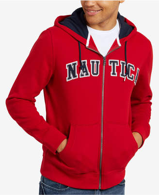 Nautica Men's Big & Tall Full-Zip Logo Hoodie, Created for Macy's