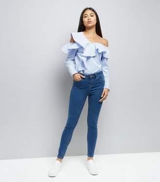 New Look Petite Blue Super Soft Skinny Jeans