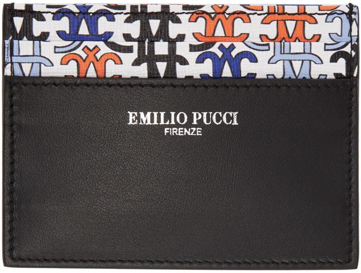 Emilio PucciEmilio Pucci Black Logo Card Holder
