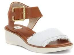 ED Ellen Degeneres Satiana Wedge Heel Ankle Strap Sandals