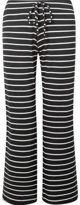 Eberjey Striped Jersey Pajama Pants - Black