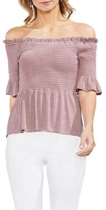 Vince Camuto Off-the-Shoulder Striped Blouse